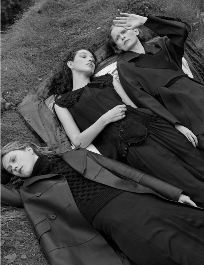 Julie Hoomans, Mckenna Hellam, Victoria Schons by Josh Olins for Massimo Dutti Fall-Winter 2017 Ad Campaign