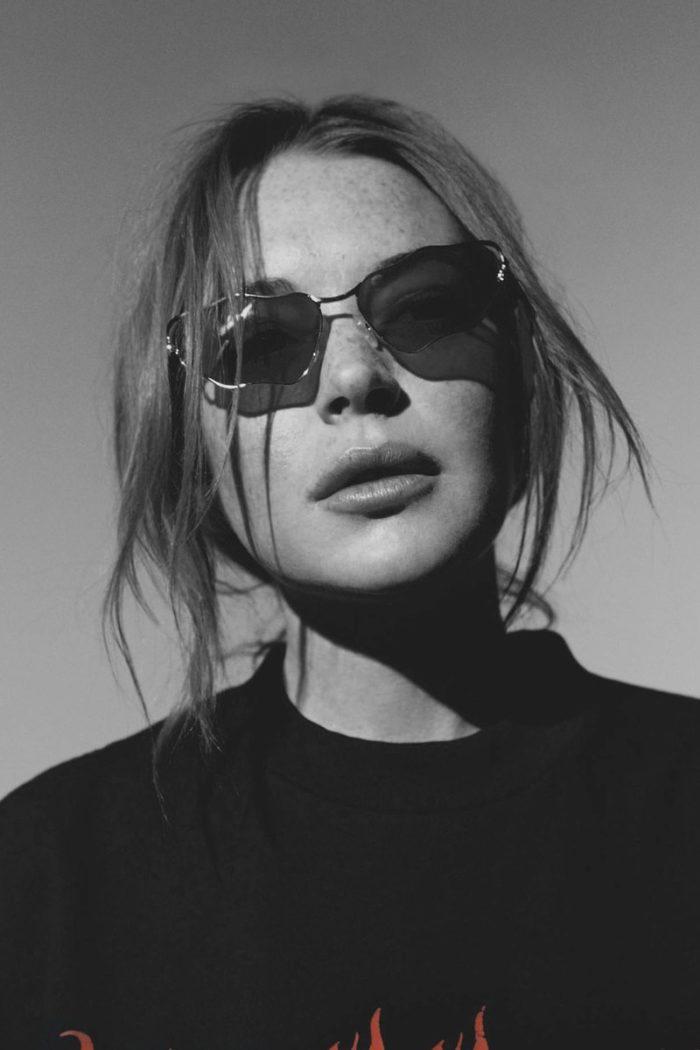 Lindsay Lohan by Laura Marie Cieplik for L'Officiel Spain October 2017