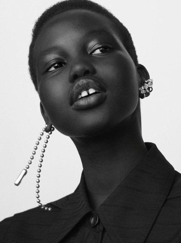 Adut Akech by Karim Sadli for Le Monde M Magazine November 2017