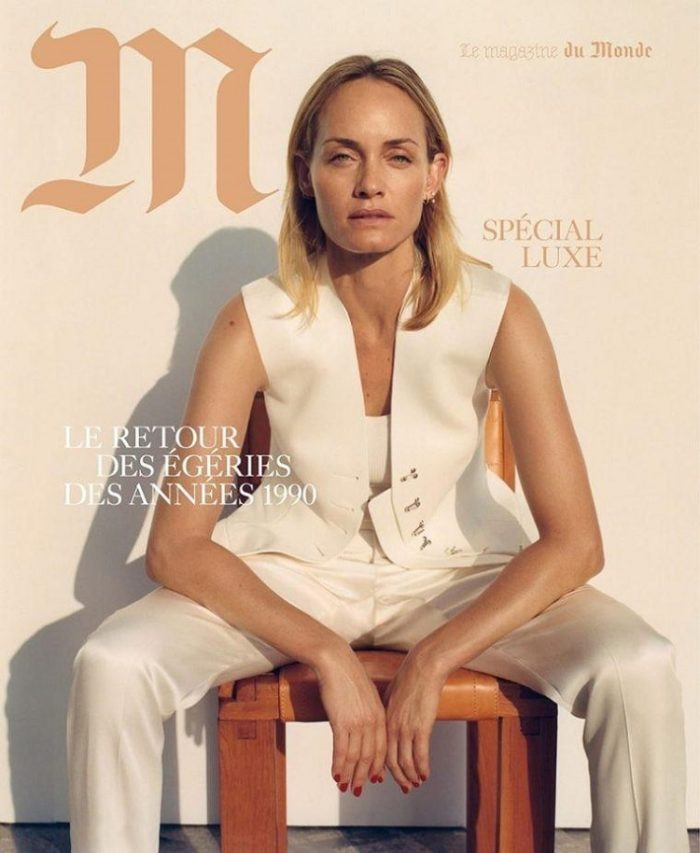 Amber Valletta Covers Le Monde M Magazine December 2017