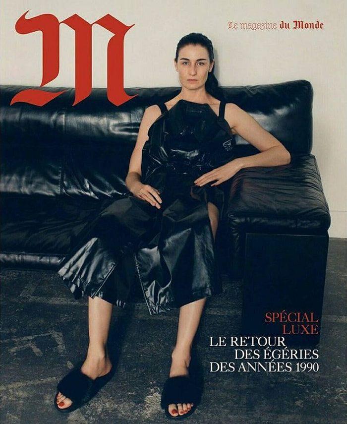 Erin O'Connor Covers Le Monde M Magazine December 2017