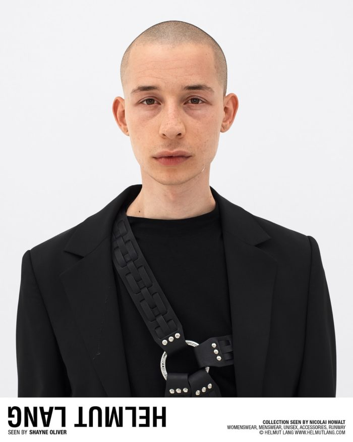 helmut lang spring 2018 ad campaign   visual