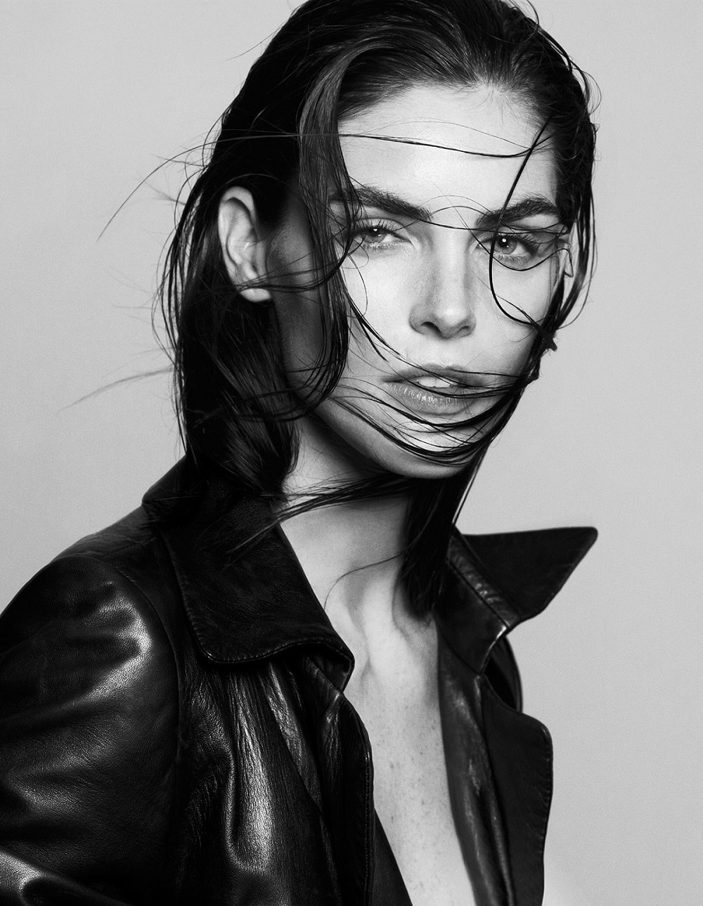Hilary Rhoda by Santiago and Mauricio Sierra - Black and White Portraits