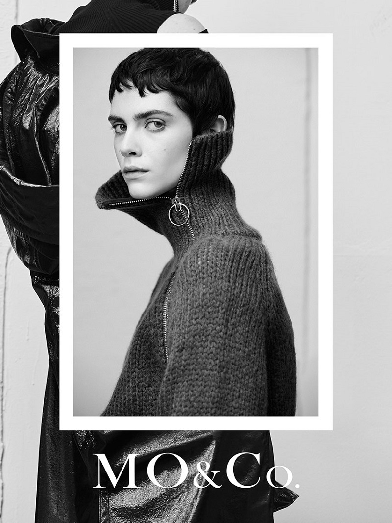 Model Amandine Renard for MO&Co. Winter 2017 Ad Campaign