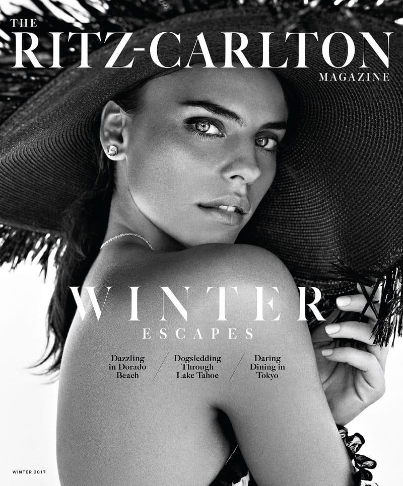Daniela Freitas Covers The Ritz-Carlton Magazine Winter 2017