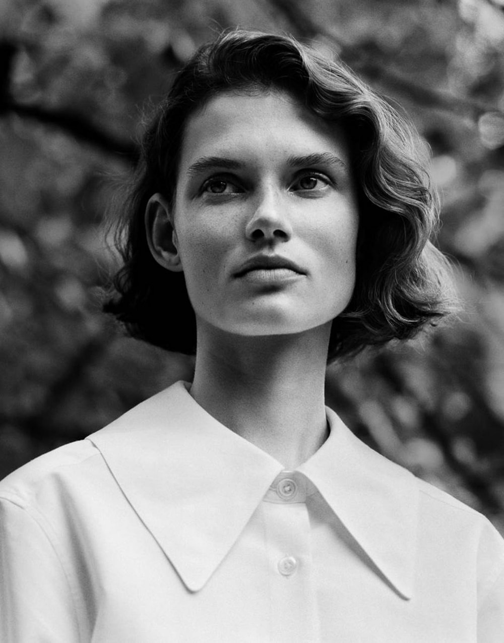 Giedre Dukauskaite by Alasdair McLellan for Margaret Howell Spring Summer 2018 Ad Campaign