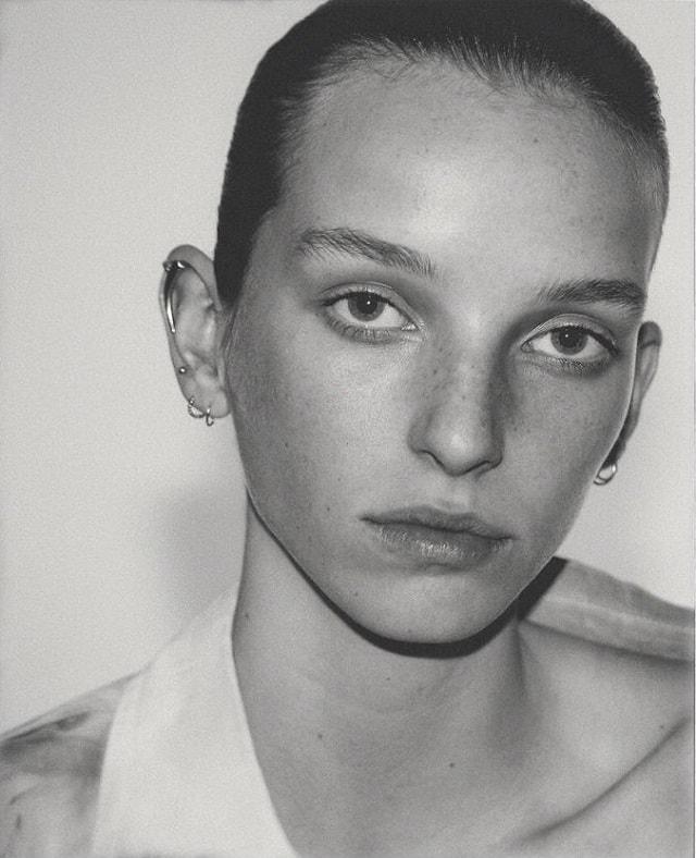 Jamilla Hoogenboom by David Ferrua for Vogue Ukraine February 2018 - Beauty Story